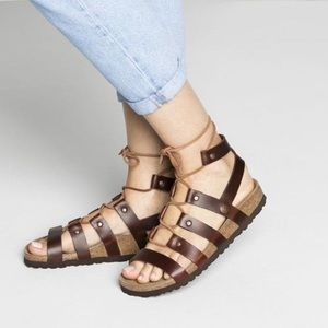 NWT Birkenstock Papillo leather Cleo sandals 37